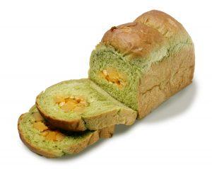 宇治抹茶と栗の食パン