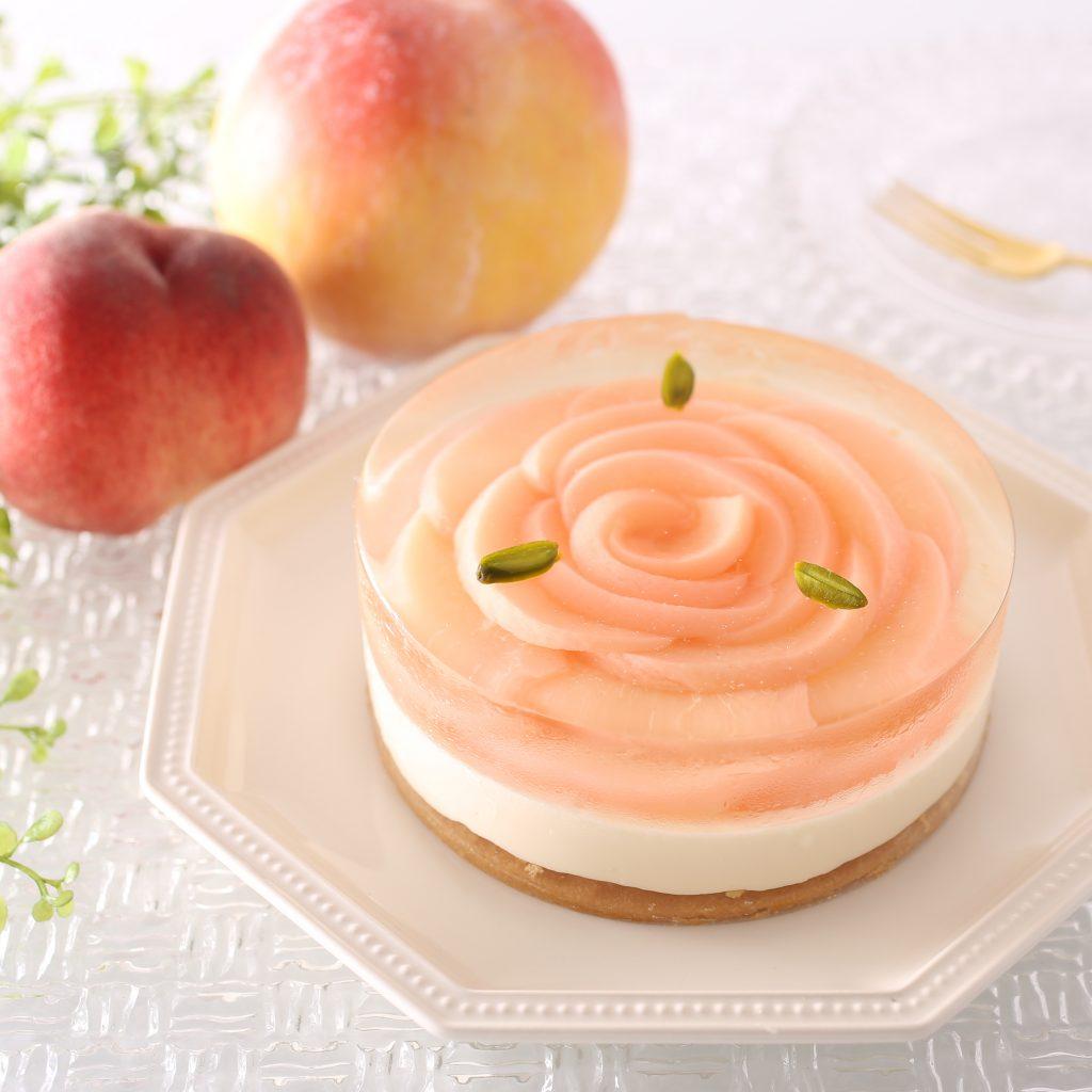 桃のレアチーズデザート