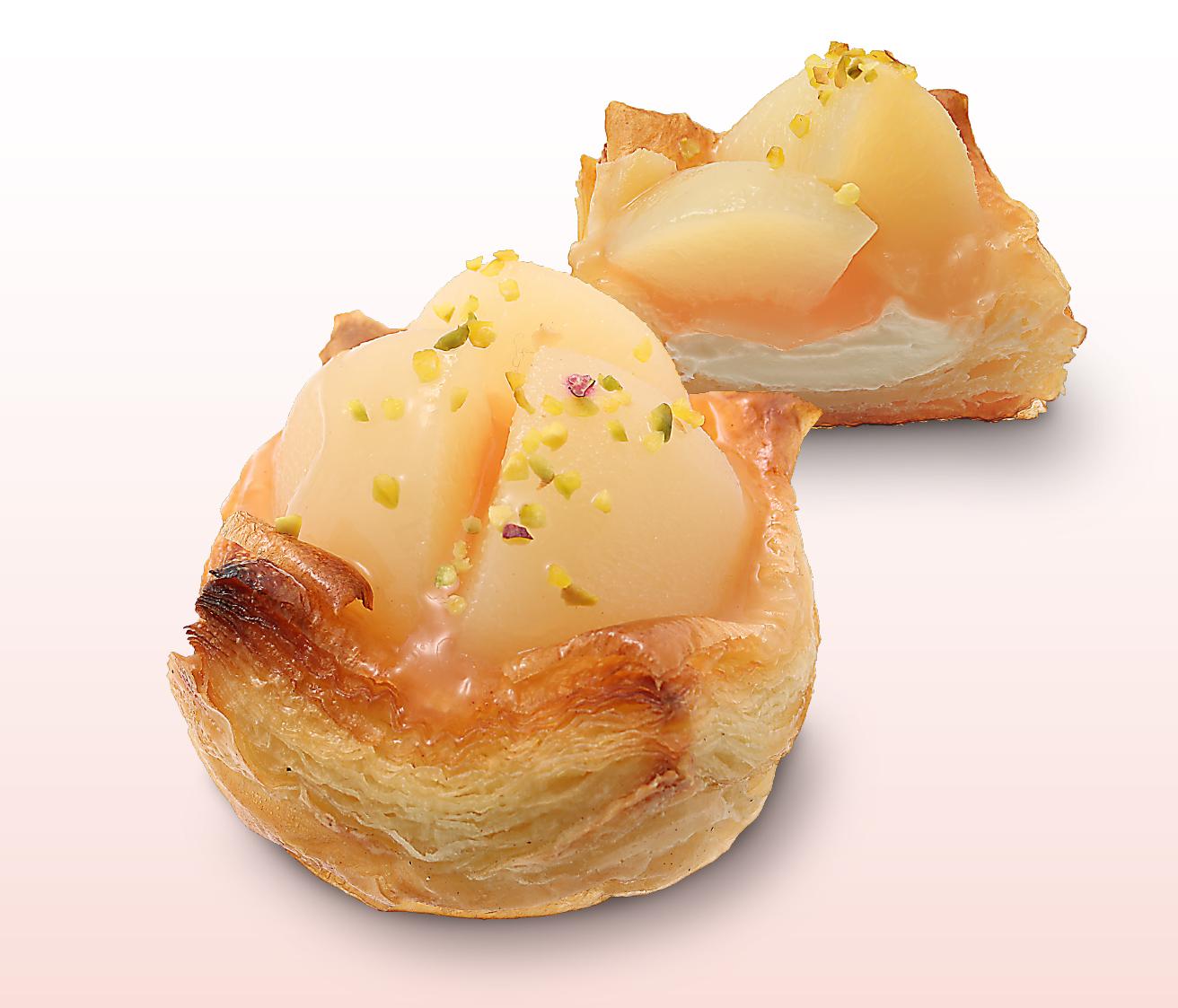 桃のクリームパン