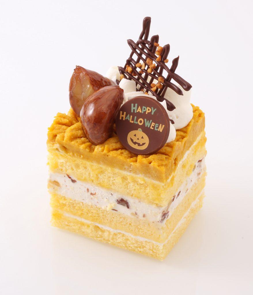 20Aかぼちゃと栗のショートケーキ_ハロウィン+_+斜め
