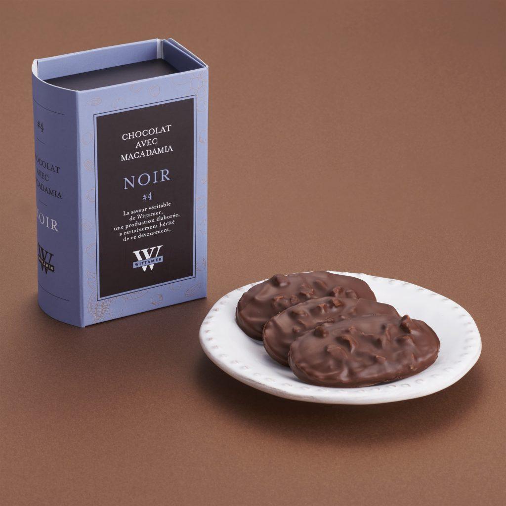 ダーク マイルドビターなダークのチョコレート。カカオの深みをいかして仕上げました。