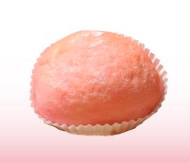 Web用桃のクリームパン