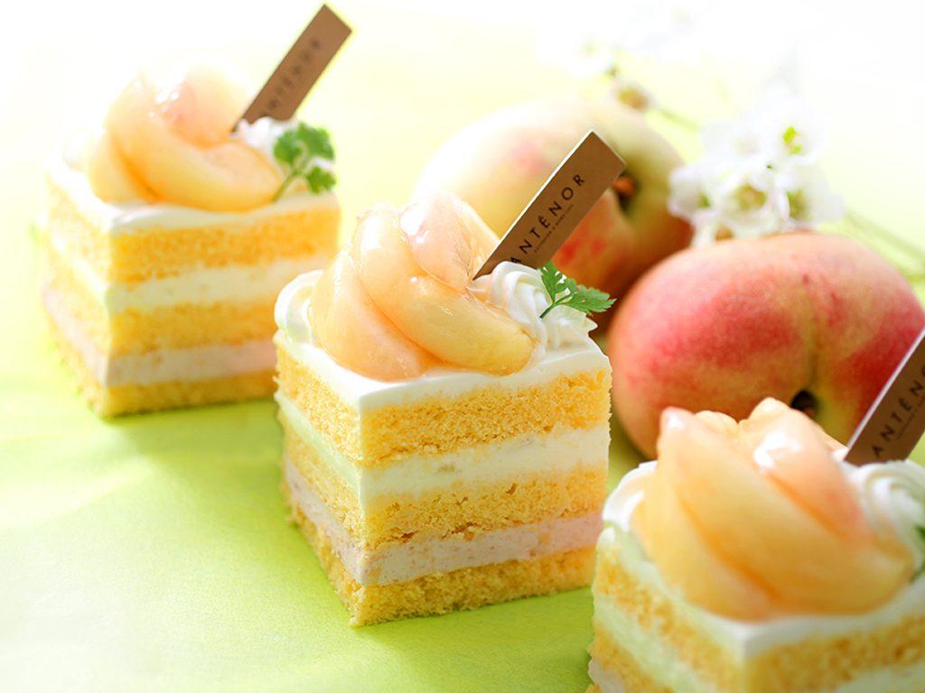 フレッシュ桃のショート_トリ