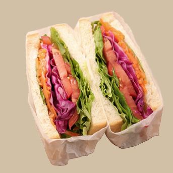 PR彩り野菜のサラダサンド