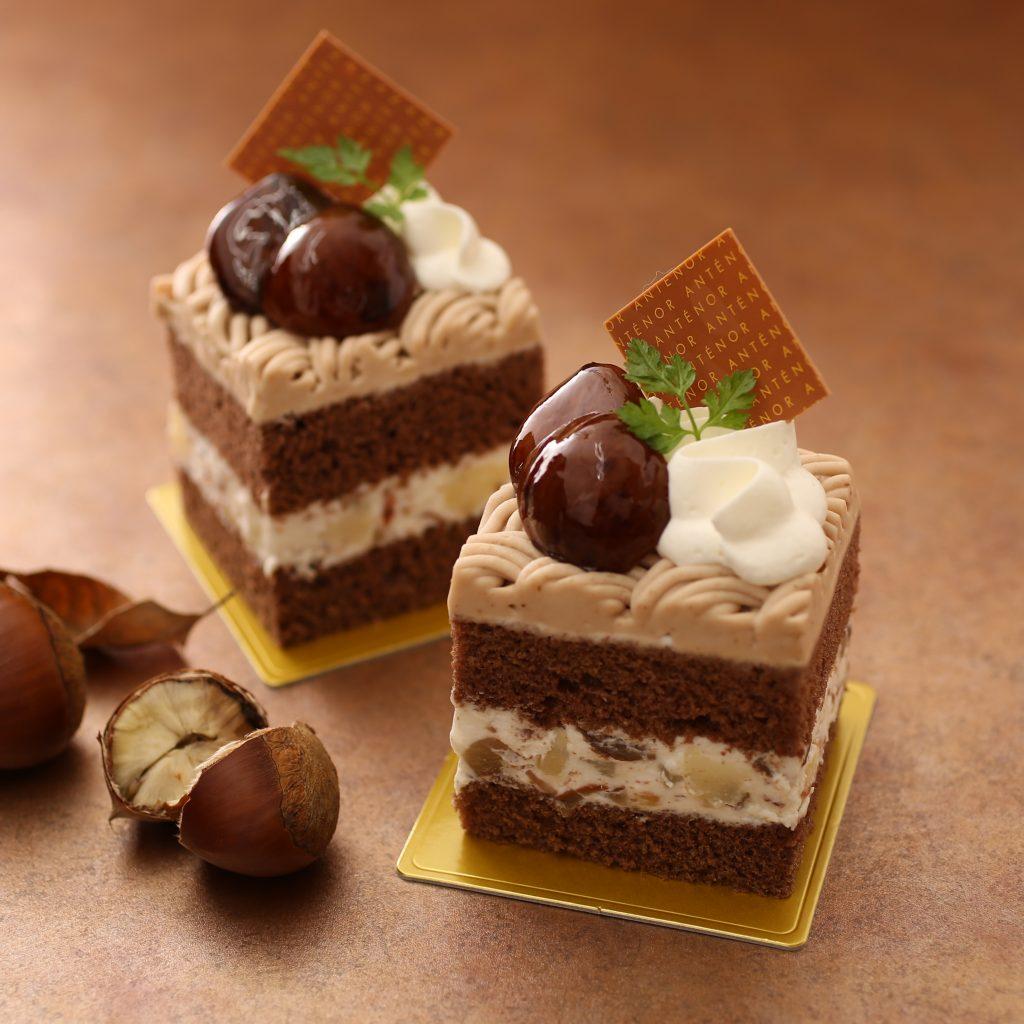 栗とショコラのショートケーキ